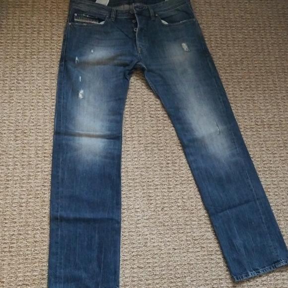 Diesel Industry Fanker Men's Jeans 26 X 32 NWT Dark Blue Wash
